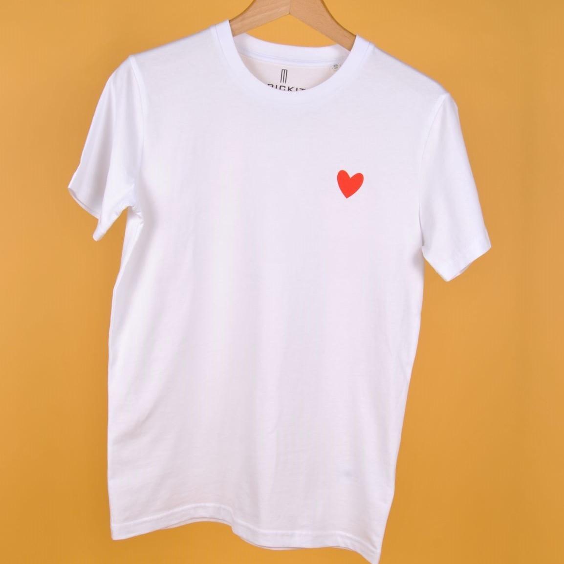 JODIE T-Shirt Weiss mit Herz