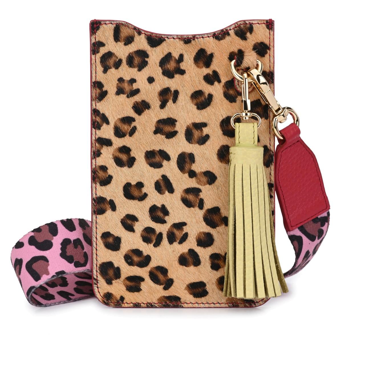 DIANA Fell Leopard mit Rot und Rosa