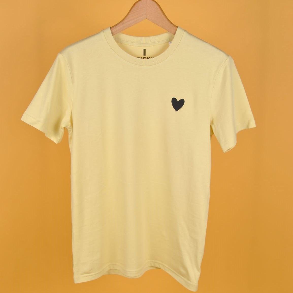 JODIE T-Shirt Gelb mit Herz