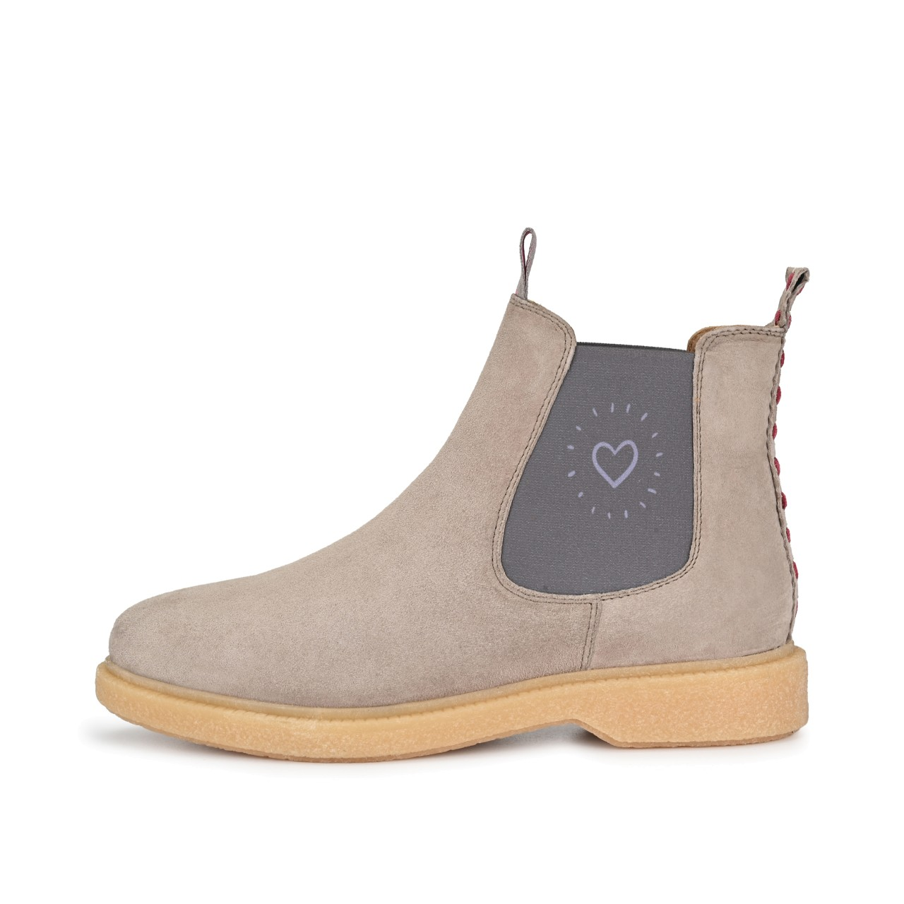 ELISA Suede Taupe mit Heartbeat