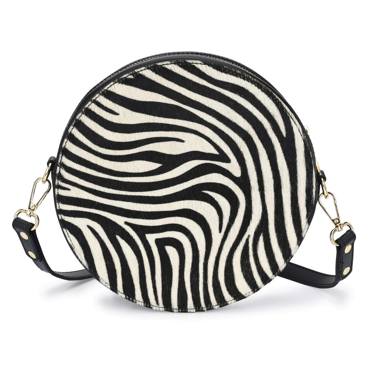 CAPRI Schwarz mit Fell Zebra